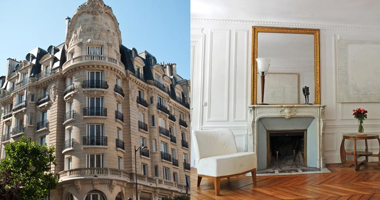 The purchase of a property in Paris